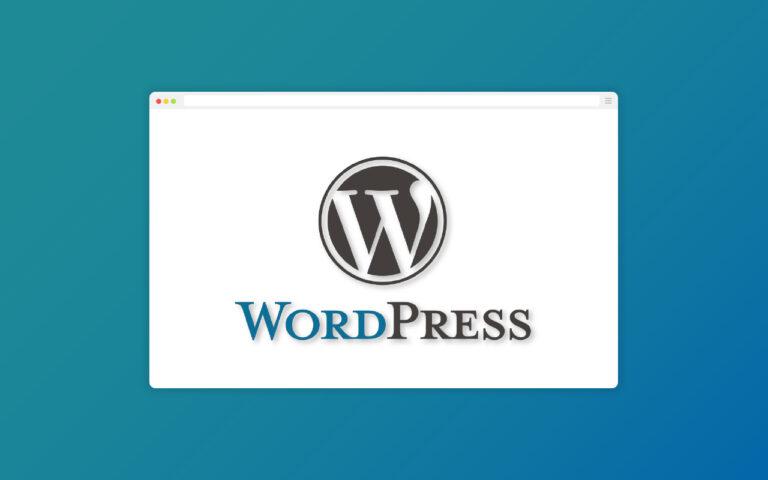 WordPress installation image